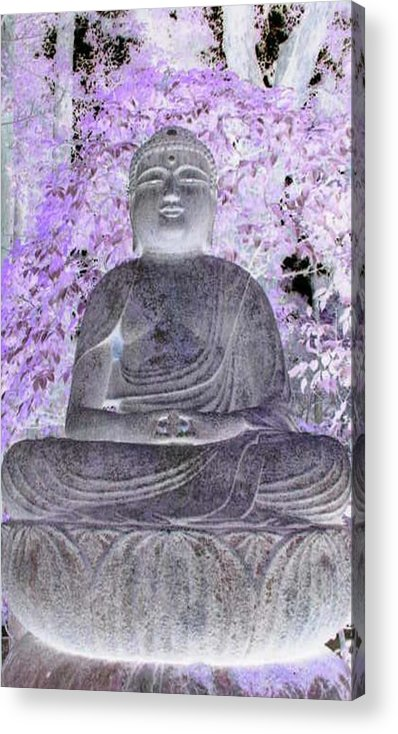 Surreal Acrylic Print featuring the photograph Surreal Buddha by Curtis Schauer
