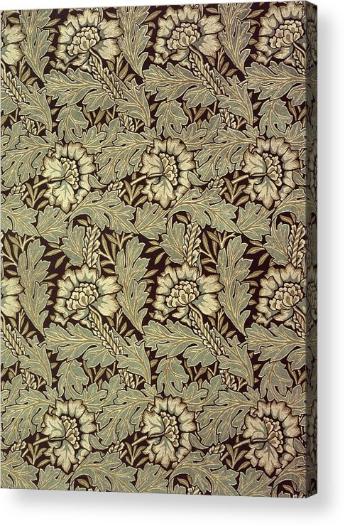 Anemones Acrylic Print featuring the tapestry - textile Anemone Design by William Morris