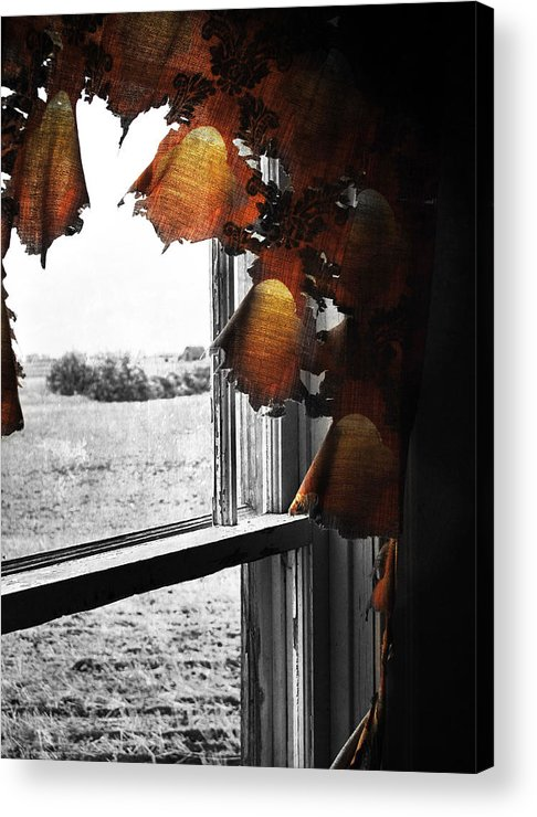 Red Acrylic Print featuring the photograph Fire Curtains by The Artist Project