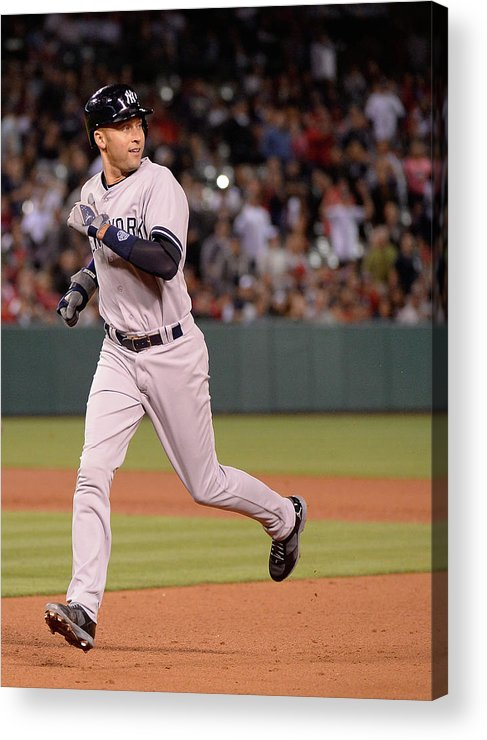 People Acrylic Print featuring the photograph New York Yankees V Los Angeles Angels 1 by Harry How
