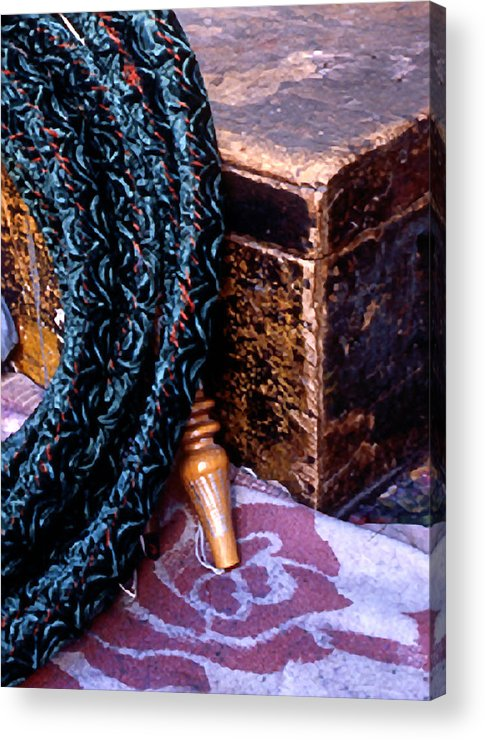 Still Life Acrylic Print featuring the photograph Smoking Pipe by Michael Fenton