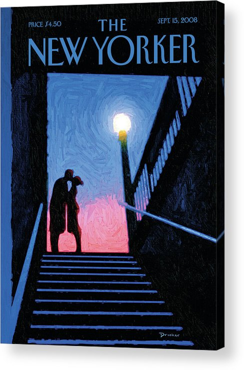 New Yorker Moment Acrylic Print featuring the painting New Yorker Moment by Eric Drooker
