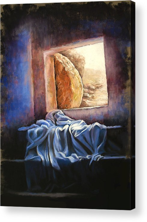 Christian Acrylic Print featuring the pastel He Is Risen by Susan Jenkins