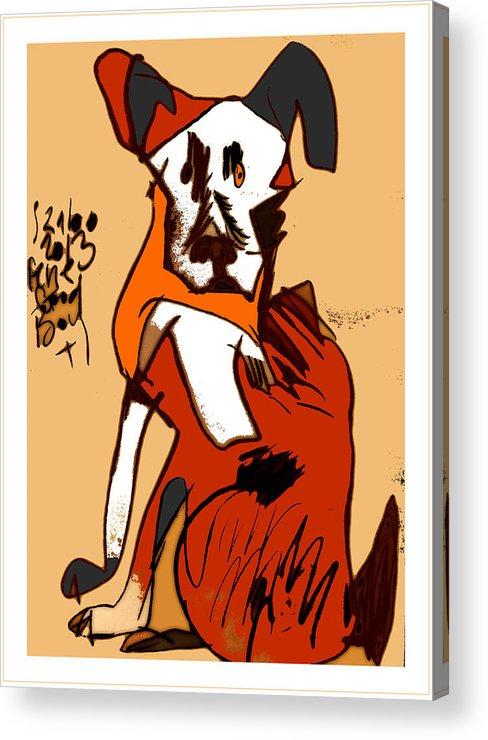 Dog Acrylic Print featuring the digital art Good Boy - 2013 by Peter Szabo