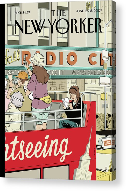 Big City Thrills Acrylic Print featuring the painting Big City Thrills by Adrian Tomine