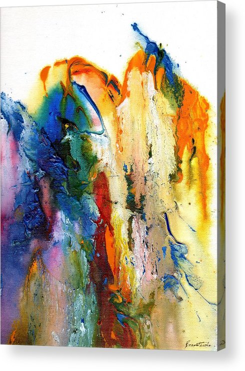 Abstract Acrylic Print featuring the painting Acrylic Flow by Alexis Bonavitacola