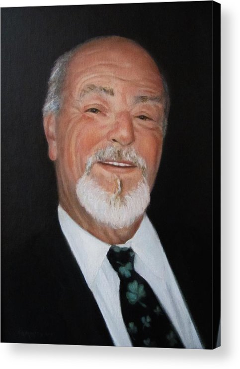 Alfred J Mickee Jr Acrylic Print featuring the painting Alfred Mickee Jr by Sharon Morley