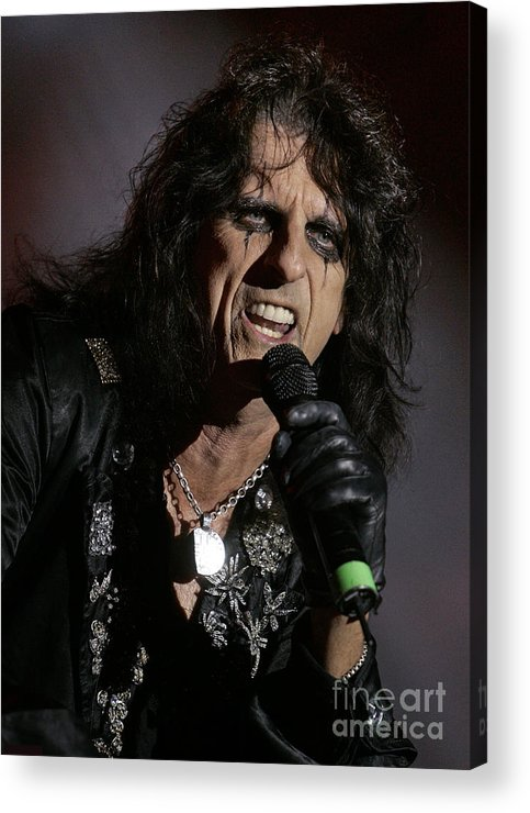 Alice_cooper Acrylic Print featuring the photograph Alice Closeup by Bruce Crummy