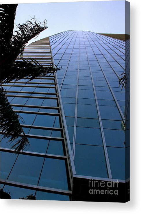 Business City Skyscraper Building Architecture Blue Acrylic Print featuring the photograph Blue Business by AR Annahita