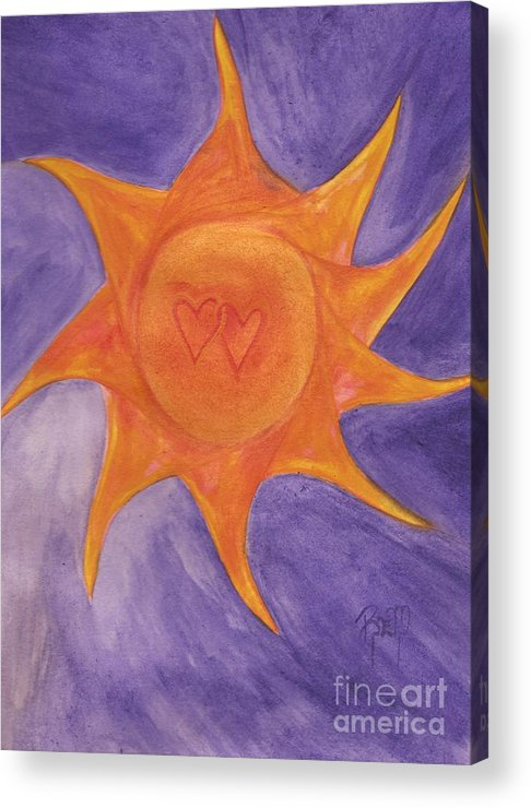 Sun Acrylic Print featuring the painting Connected by Robert Meszaros