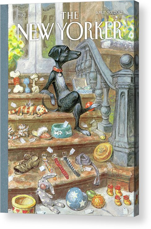Urbane Acrylic Print featuring the painting Tag Sale by Peter de Seve