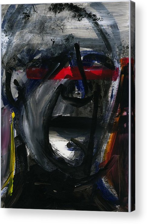 Acrylic Acrylic Print featuring the painting Face Xiv by Luka Matijas