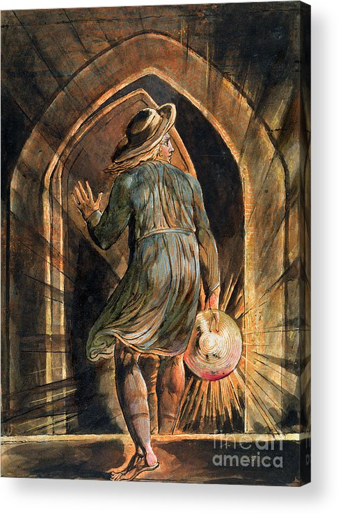 Front Page Acrylic Print featuring the painting Frontispiece To Jerusalem by William Blake