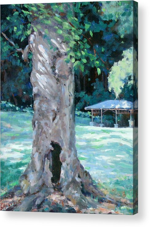 Percy Warner Park Acrylic Print featuring the painting Gentle Giant by Sandra Harris