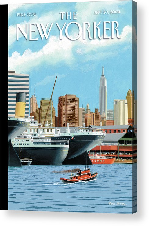 American History Acrylic Print featuring the painting Ghost Ships by Bruce McCall