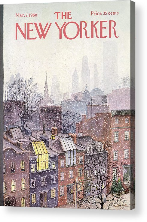 Albert Hubbell Ahu Acrylic Print featuring the painting In The Borough by Albert Hubbell