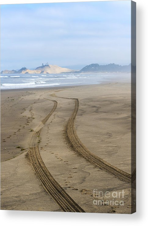Tracks Acrylic Print featuring the photograph Leading To The Cape by Mike Dawson