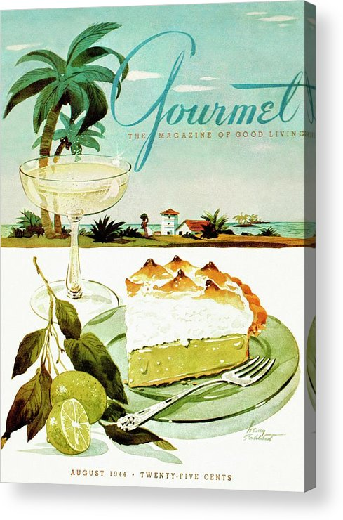 Food Acrylic Print featuring the photograph Lime Meringue Pie With Champagne by Henry Stahlhut