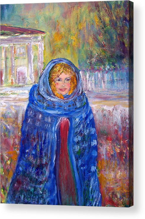 Impressionist Acrylic Print featuring the painting Lucretia Cross 1828 American Pioneer by Patricia Taylor