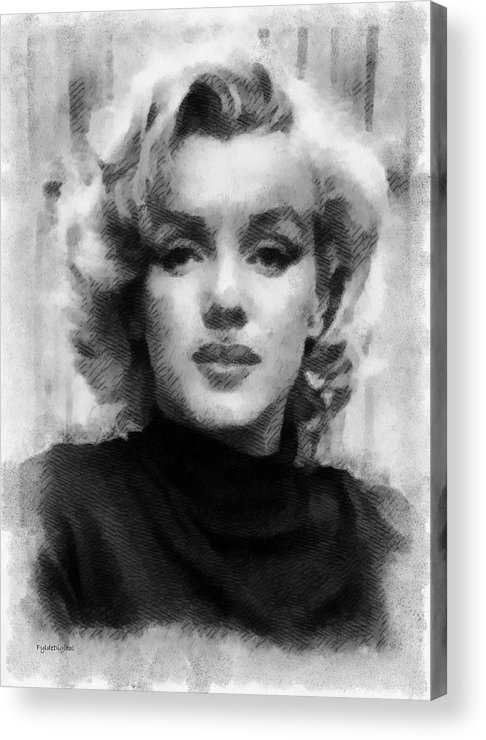 Marilyn Munroe Acrylic Print featuring the painting Marilyn by Patrick OHare