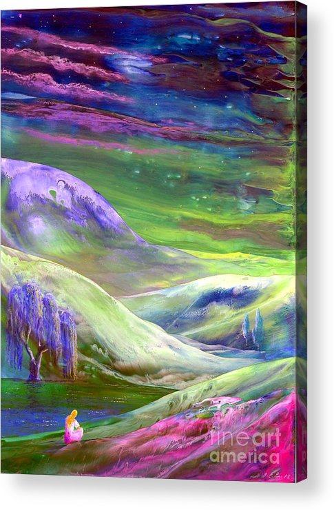 Moonlight Acrylic Print featuring the painting Moon Shadow by Jane Small