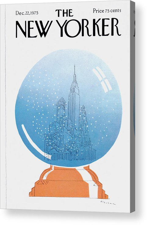 City Acrylic Print featuring the painting New Yorker December 22nd, 1975 by RO Blechman