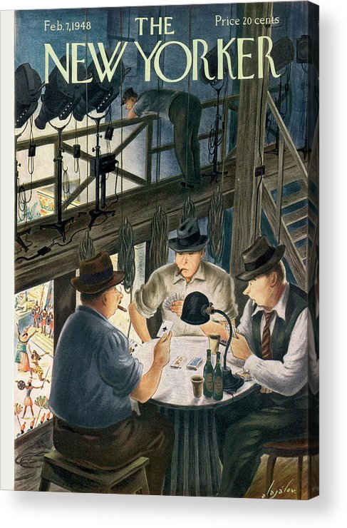 Music Acrylic Print featuring the painting New Yorker February 7th, 1948 by Constantin Alajalov