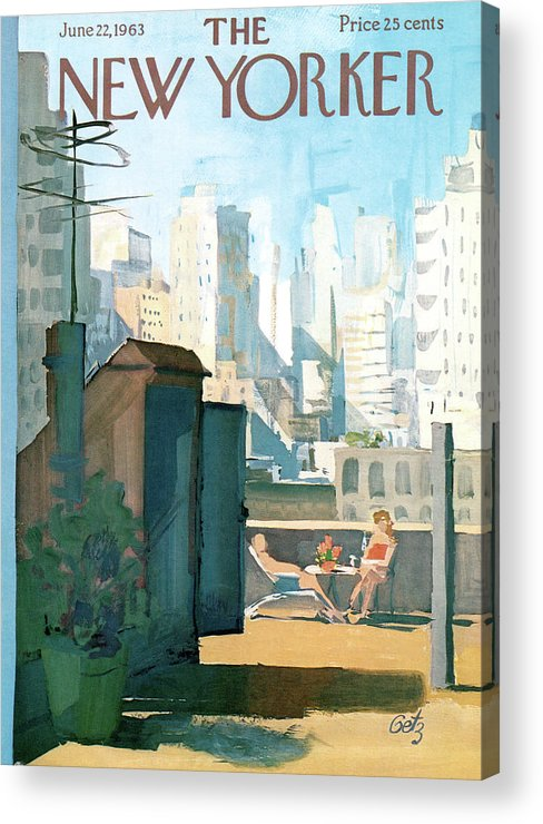 Acrylic Print featuring the painting New Yorker June 22nd, 1963 by Arthur Getz