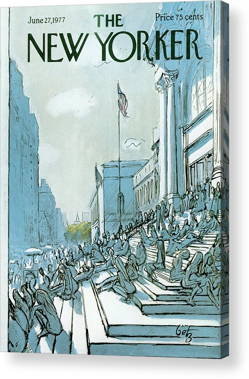 Summer Acrylic Print featuring the painting New Yorker June 27th, 1977 by Arthur Getz