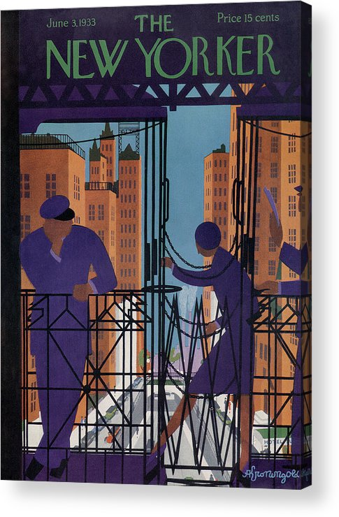 Illustration Acrylic Print featuring the painting New Yorker June 3rd, 1933 by Adolph K Kronengold