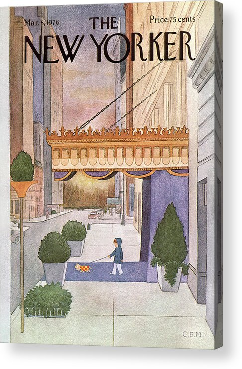 Upper East Side Acrylic Print featuring the painting New Yorker March 8th, 1976 by Charles E Martin