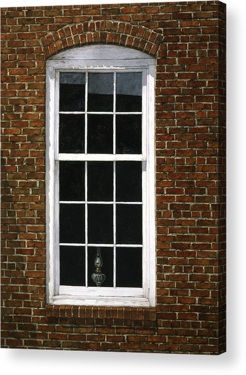 Still Life Acrylic Print featuring the painting Roswell Window by Tom Wooldridge