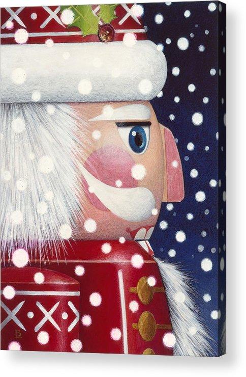 Santa Nutcracker Acrylic Print By Lynn Bywaters