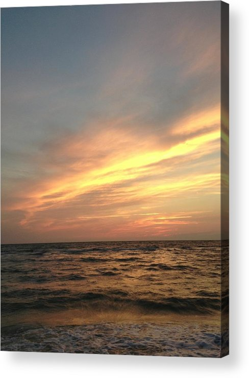 Sunset Acrylic Print featuring the photograph Slanted Setting by K Simmons Luna
