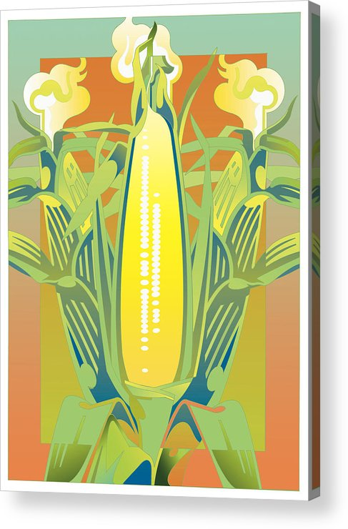 Botanical Acrylic Print featuring the digital art Summer Harvest by David Chestnutt