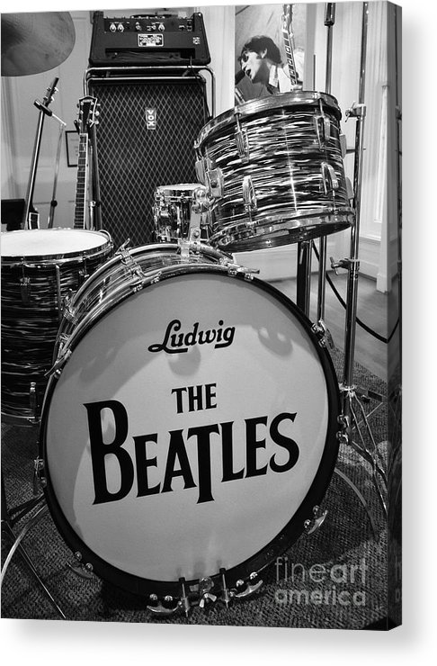 The Beatles Acrylic Print featuring the photograph The Beat Goes On by Mel Steinhauer