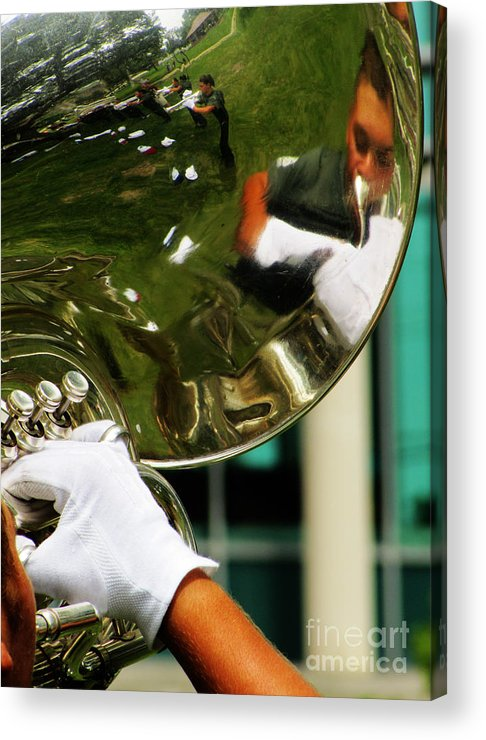 Music Acrylic Print featuring the photograph The Finest Tuba The Sweetest Sound by Ron Tackett