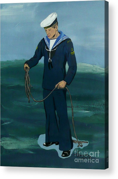 Sailor Acrylic Print featuring the painting The Sailor by Anthony Dunphy
