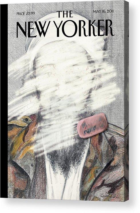 Osama Acrylic Print featuring the painting New Yorker May 16th, 2011 by Gurbuz Dogan Eksioglu