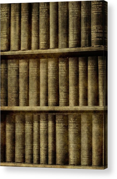 Vintage Books Acrylic Print featuring the photograph Vintage Books by Dan Sproul