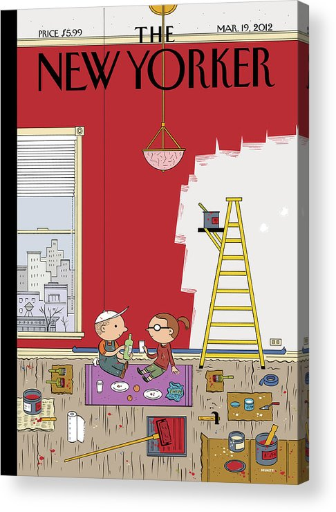 Paint Acrylic Print featuring the painting Warmth by Ivan Brunetti