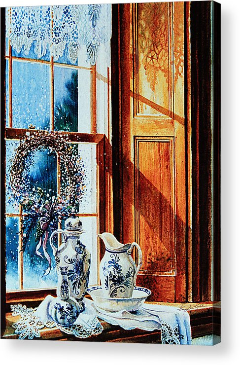 Still Life Acrylic Print featuring the painting Window Treasures by Hanne Lore Koehler