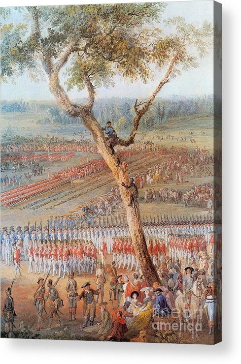 America Acrylic Print featuring the photograph British Troops Surrender At Yorktown by Photo Researchers