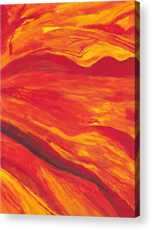 Abstract Acrylic Print featuring the painting Close Up by Rebecca Schoof