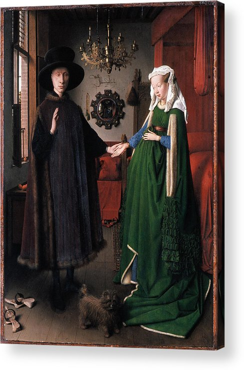 1434 Acrylic Print featuring the photograph Eyck: Arnolfini Marriage by Granger