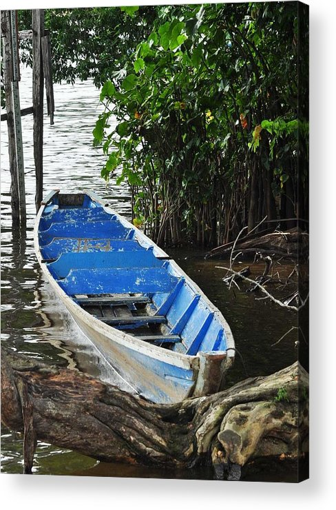 Boat Acrylic Print featuring the photograph Lone Boat by Danielle Del Prado