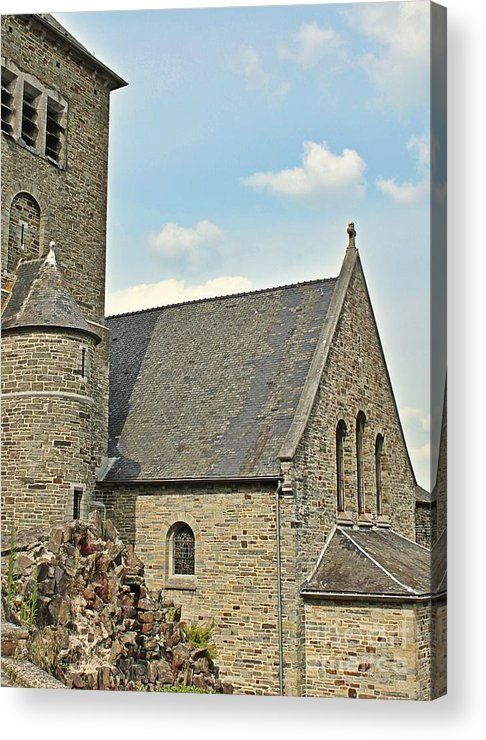 Church Acrylic Print featuring the mixed media Old Church by Lauren Serene