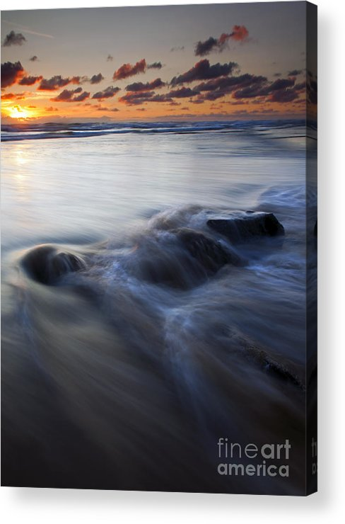 Hug Point Acrylic Print featuring the photograph Over The Rocks by Mike Dawson
