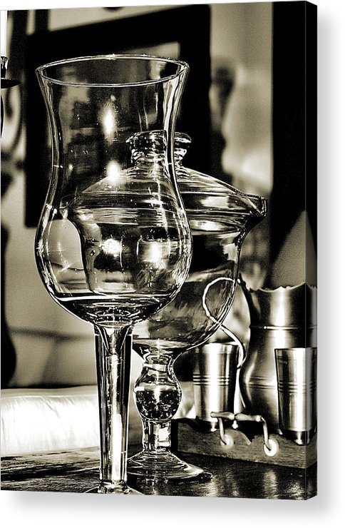 Bob Wall Acrylic Print featuring the photograph Pewter And Glass by Bob Wall