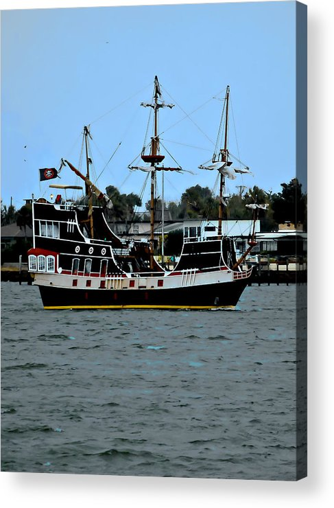 Ship Acrylic Print featuring the photograph Pirate Ship Of The Matanzas by DigiArt Diaries by Vicky B Fuller